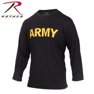 تي شيرت مطبوع Army كم طويل PT, روثكو, اسود