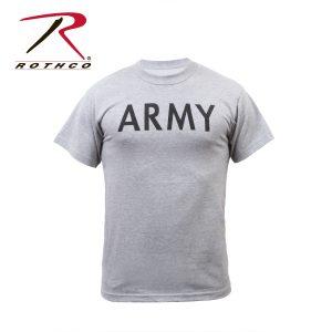 تي شيرت مطبوع Army, روثكو, رمادي
