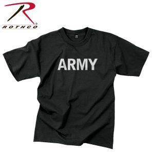تي شيرت مطبوع Army PT, روثكو, اسود